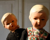 Vintage Ceramic Boy and Girl Doll