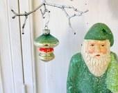Vintage Mercury Glass Christmas Ornaments - Four Different Lanterns