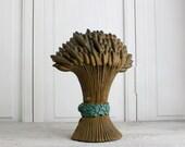 Vintage Wheat Sheaf Cast Iron Doorstop