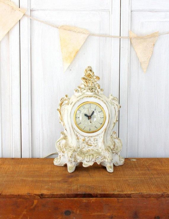 Vintage Ceramic French Clock