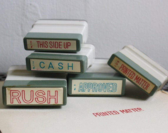 Set of Five Self-Inking Stamps