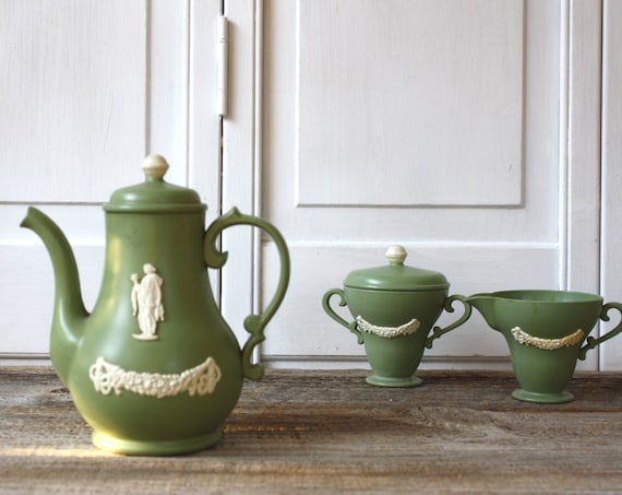 Plastic Wedgewood Play Tea Set by Ideal - 1950s