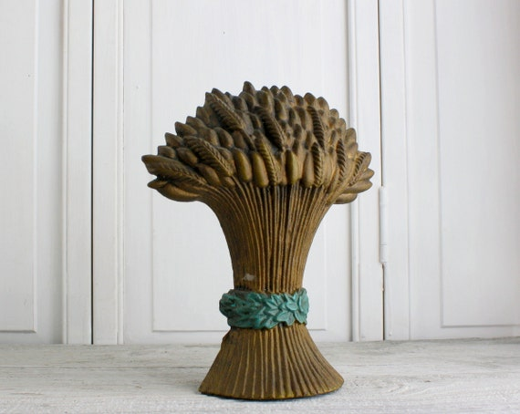 Vintage Wheat Sheaf Cast Iron Doorstop