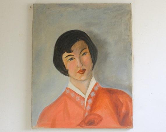 RESERVED FOR KARIN Vintage Oil Painting