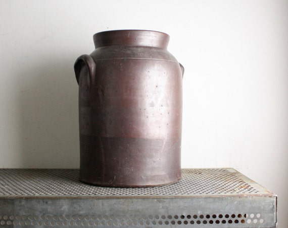 Vintage Brown Glazed Crock