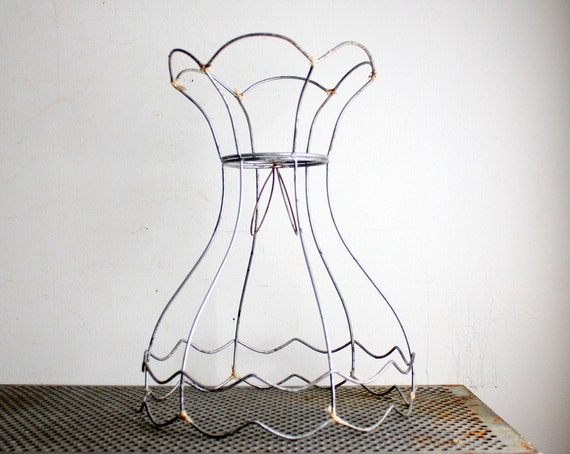 Vintage Metal Wire Lamp Shade Frame