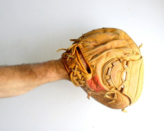 Vintage Baseball Glove - Catcher's Mitt
