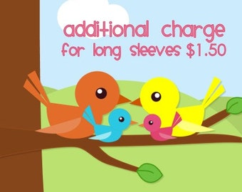 Additional Charge for Long Sleeves-1.50