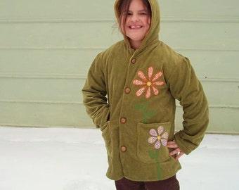 Blooming Corduroy Girls Jacket no.2