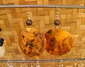 Copper Shell and Pearl Earrings