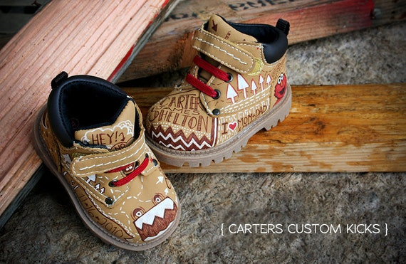 Personalized Hand Painted Kids/baby shoes