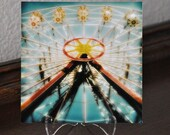 Ferris Wheel Photograph 5x5 Mini-Print on Stand