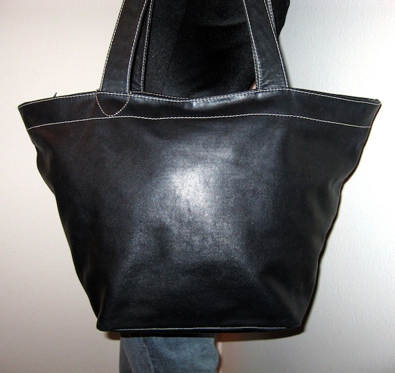 Lord and Taylor ex large hobo bag tote vintage genuine leather