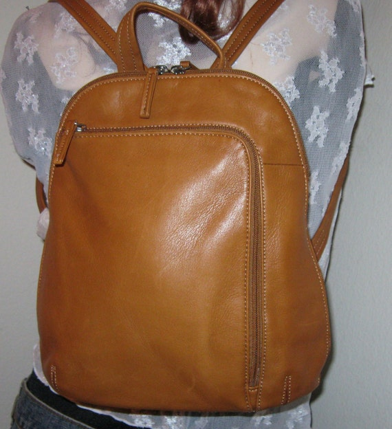 Tignanello butter soft genuine leather backpack day pack  awesome mint