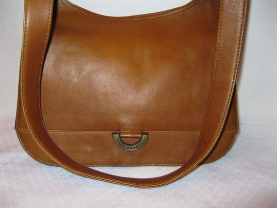American Angel  Colombia purse saddle bag multi compartment in deep honey tan
