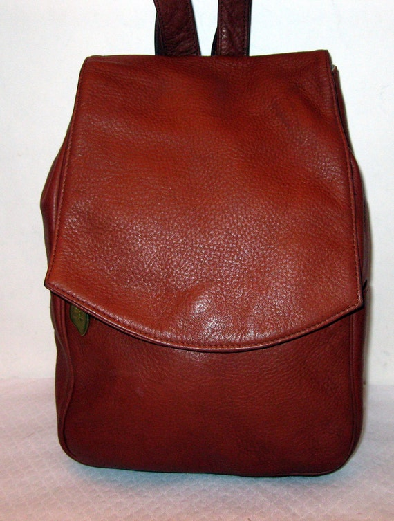 Libaire thick grain leather backpack sling bag gorgeous