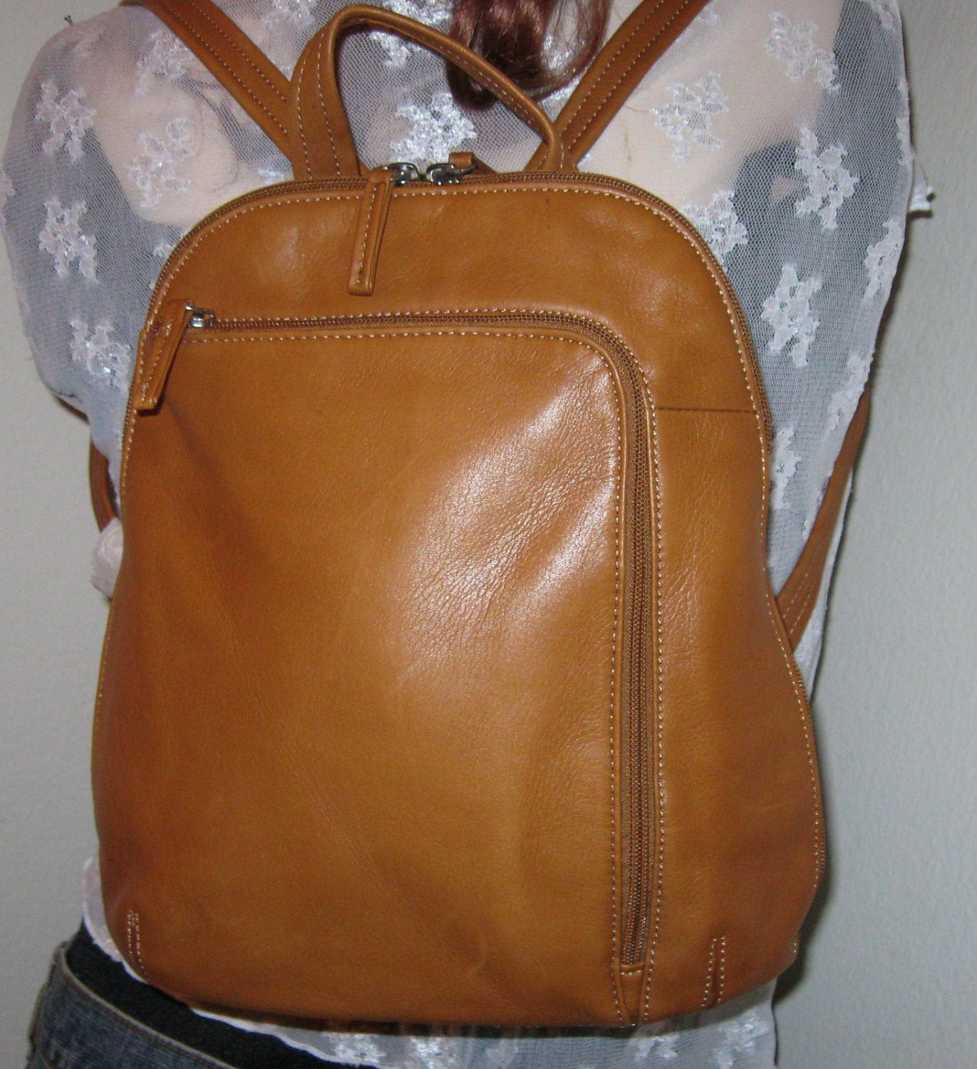 Tignanello Butter Soft Genuine Leather Backpack Day Pack