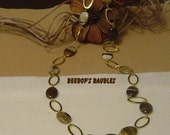 Petrified Wood & Chain Long Necklace