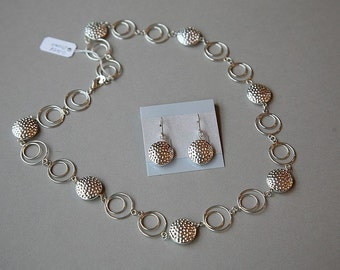 Simply Silver Circles Necklace & Earrings