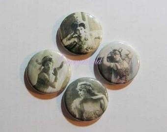 Vintage Images of Middle Eastern Belly Dancers 1 inch 4 button set no. 2
