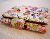 Interchangeable Knitting Needle Organizer Case - Whimsical Flowers