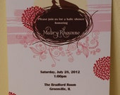 Baby Shower Invitations Momma and baby bird (set of 10)