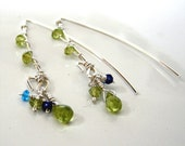 Peridot and Cubic Wrap Earrings, 22.00 from 27.00