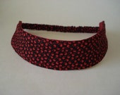 Boutique Fabric Hip Headband...Red and Black (No. 111)