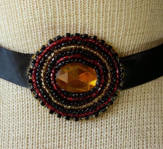 Gold Sequin Beaded Choker / Headband / Hair Tie - Adjustable Length - OlyTeam