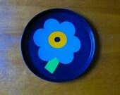 Mod floral tin tray