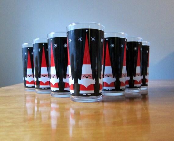 Atomic Santa glasses, set of ten