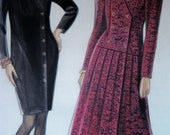 UNCUT New Look 6586 Misses Long Sleeve Wrap Dress or Blouse and Pleated Skirt. Size 8 10 12 14 16 18