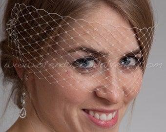Birdcage Veil, Venetian Birdcage Veil, Bridal Veil, Wedding Veil, Mask Veil, Visor Veil, Bridal Hair
