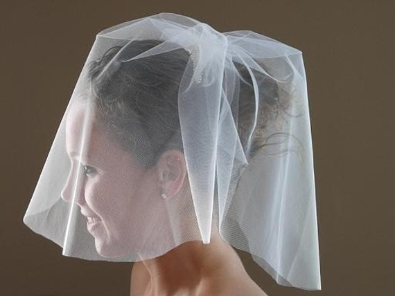 Duet Tulle Blusher Birdcage Veil On A Comb