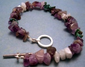 Amethyst\/Moonstone\/Turquoise Bracelet
