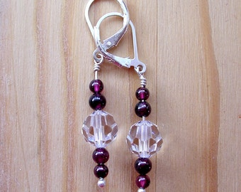 Rich Garnet Sparkle Earrings