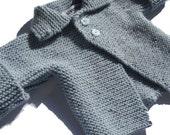Cuffed Jacket in Powder Blue