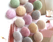 Handmade Pastel Green Gray Orange Pink Beige Plain Fleece Fabric Covered Buttons, Plain Fabric Buttons, CHOOSE COLOR SIZE 5's