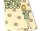 Shinzi Katoh French Girl Polka Dots Cat Medium Size Notebook Journal
