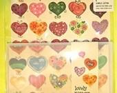 Pretty Colorful Hearts Love Design Letter Set  Letterset
