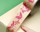 Fun Big Roll Of '' Like A Bird '' Cartoon Decor Deco DIY Paper Sticker Tape