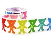 Kawaii Rainbow Teddy Bears Happy Deco Decor Tape Scrapbook Stickers