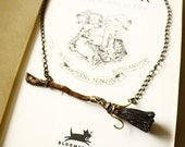 RESERVED for FUFUFOX 3 X Harry Potter Firebolt broom necklace with Snitch