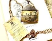 Hogwarts accpetance letter - Harry Potter personalized necklace