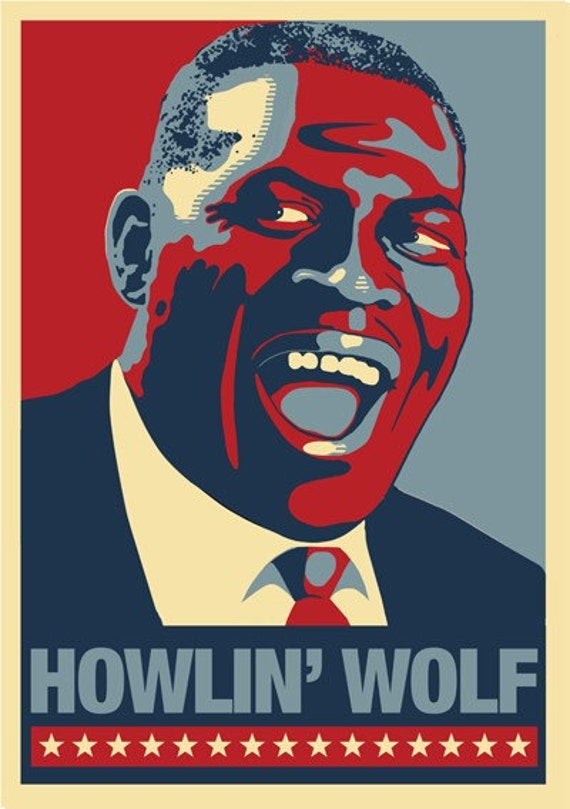 HOWLIN' WOLF Blues Man Poster