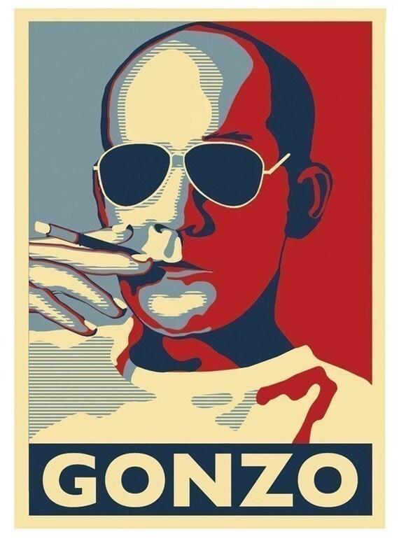 Hunter S. Thompson Gonzo Poster