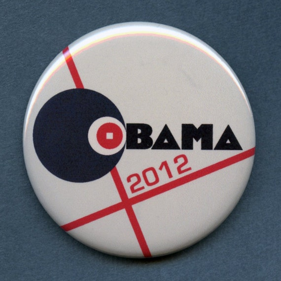 Obama Biden 2012 Constructivist  Limited Edition Pin Fourth in Series