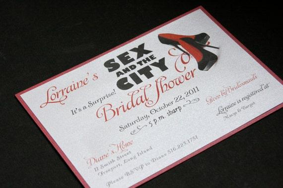 Sex in the City/Shoe Theme Bridal Shower/ Bachlorette  Invitation