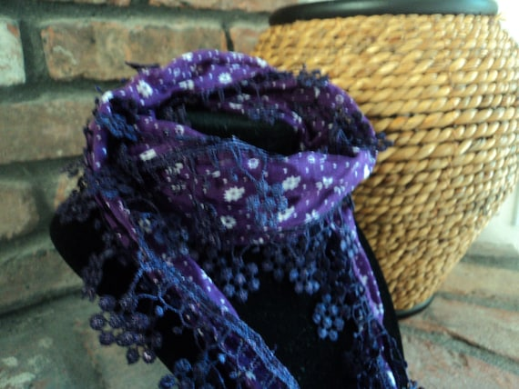 Turkish  Lace Edge Scarves