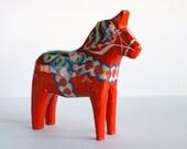 "vintage small 5"" Swedish DALA HORSE - G A Olsson"